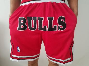 Chicago Bulls Red Nba Throwback Shorts On Sale For Cheap