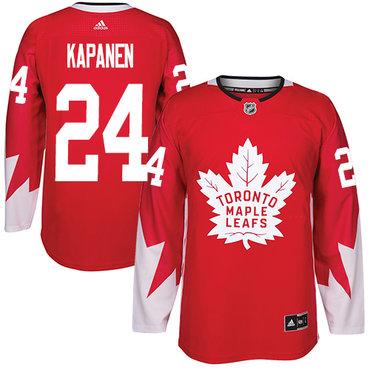 Adidas Toronto Maple Leafs #24 Kasperi Kapanen Red Team Canada Authentic Stitched NHL Jersey
