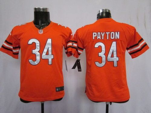 Nike Chicago Bears #34 Walter Payton Orange Toddlers Jersey