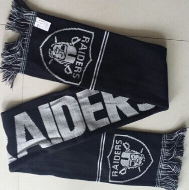 Oakland Raiders Black Scarf