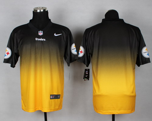 b230aca75c3 Nike Pittsburgh Steelers Blank Black Yellow Fadeaway Elite Jersey on ...