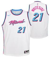 promo code 11a4e b4ede Nike Heat #21 Hassan Whiteside White NBA Swingman City ...